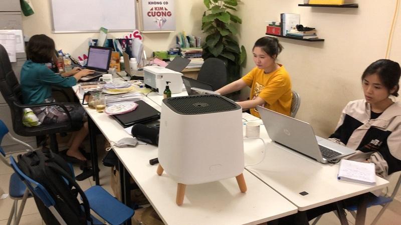 """Sản phẩm công nghệ hiện đại – máy lọc không khí có khả năng loại bụi bẩn với kích thước """"siêu nhỏ""""."""