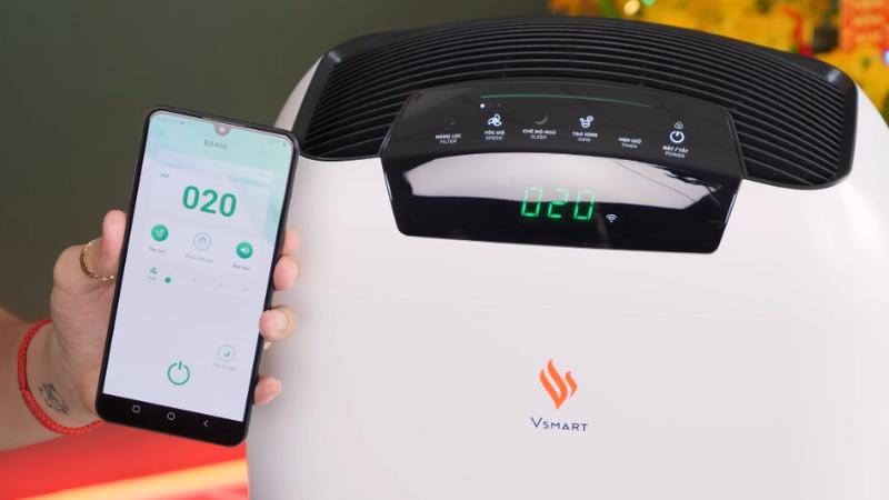 Sản phẩm máy lọc không khí Smart có thể loại 99,95% bụi mịn, vi khuẩn